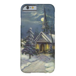 Vintage Christmas, Church in Moonlight Snow Winter Barely There iPhone 6 Case