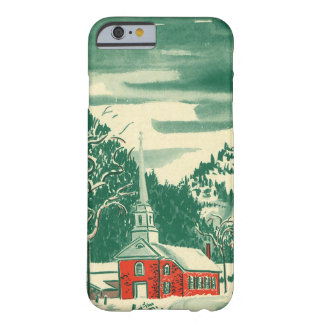 Vintage Christmas Church, Snowscape in Winter Barely There iPhone 6 Case