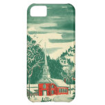 Vintage Christmas Church Snowscape in Winter iPhone 5C Case
