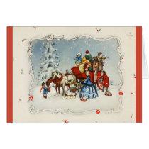 Vintage Christmas Coach Card