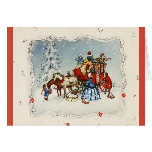 Vintage Christmas Coach Cards