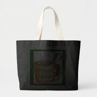 Vintage Christmas Cocoa Coffee Mug Black Canvas Bag