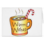 Vintage Christmas Cocoa Coffee Mug Greeting Card
