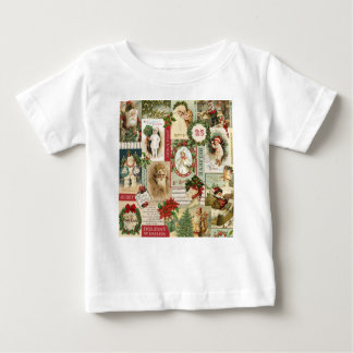 VINTAGE CHRISTMAS COLLAGE BABY T-Shirt
