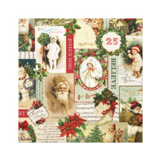 Vintage Collage Wrapped Canvas Prints | Zazzle
