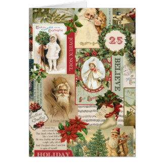 VINTAGE CHRISTMAS COLLAGE CARD