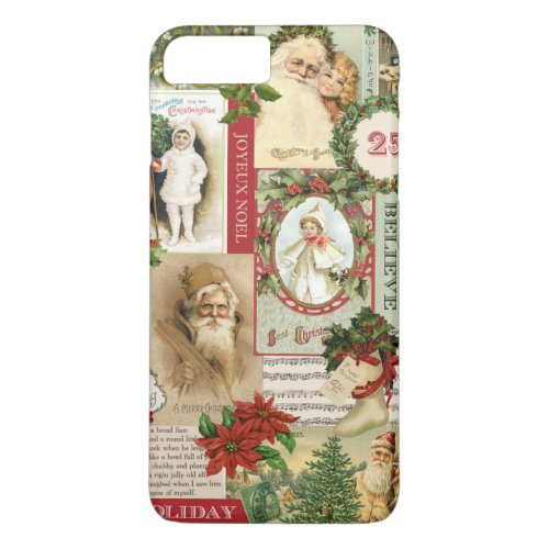 VINTAGE CHRISTMAS COLLAGE iPhone 8 PLUS7 PLUS CASE
