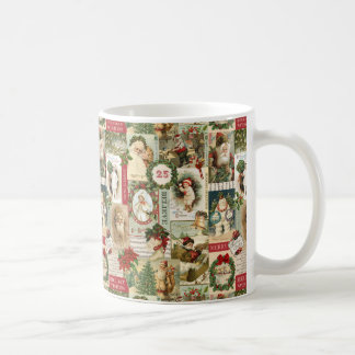 VINTAGE CHRISTMAS COLLAGE COFFEE MUG