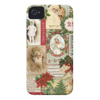 VINTAGE CHRISTMAS COLLAGE iPhone 4 COVER