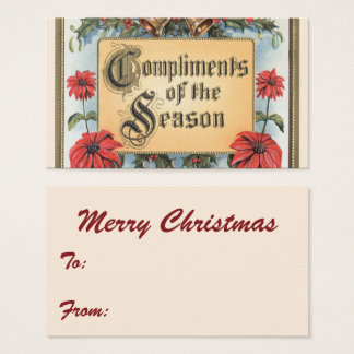 Vintage Christmas, Compliments of the Season Business Card