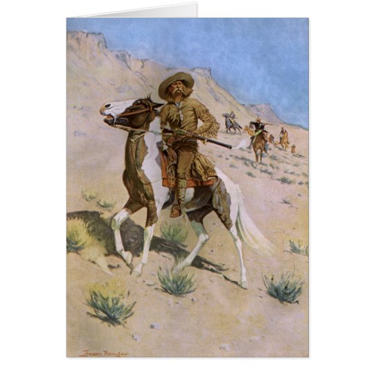Vintage Christmas Cowboys, The Scout by Remington Card
