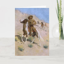 Vintage Christmas Cowboys, The Scout by Remington Holiday Card