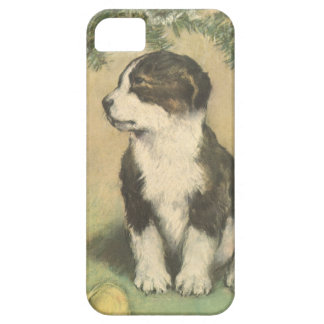 Vintage Christmas Cute Puppy Dog iPhone 5 Case