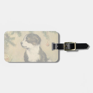 Vintage Christmas, Cute Puppy Dog Tags For Bags