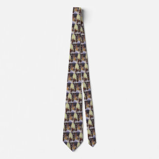 Vintage Christmas, Dad Shopping with the Kids Tie