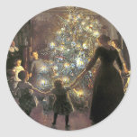 Vintage_Christmas_dance_sticker Stickers