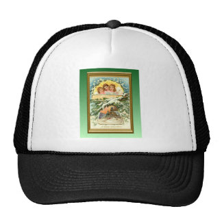 Vintage Christmas, deco style Trucker Hat