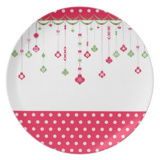 vintage Christmas decoration Plate