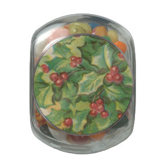 Vintage Christmas Decorations Jelly Belly Candy Jar