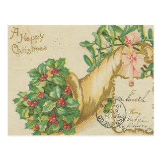 Vintage Christmas Decorations Postcard