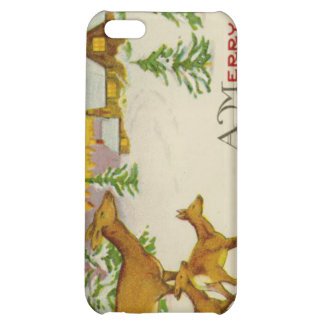 Vintage Christmas Deer Cover For iPhone 5C