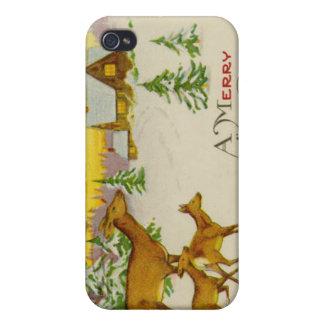 Vintage Christmas Deer iPhone 4 Cover