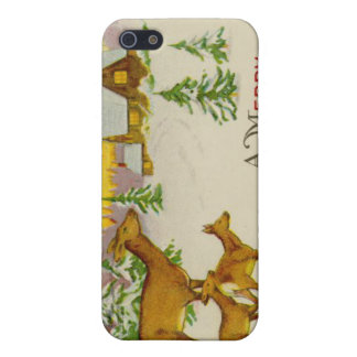 Vintage Christmas Deer iPhone 5 Covers