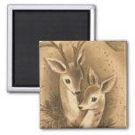 Vintage Christmas Deer Magnets