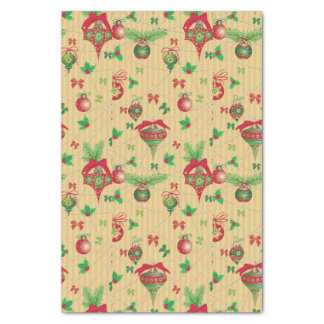 Vintage Christmas Design Tissue Paper