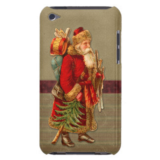Vintage Christmas design with Santa iPod Touch Case