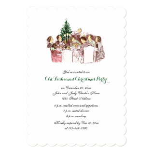 Vintage Christmas Dinner Holiday Party Invitation at Zazzle