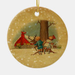 Vintage Christmas Double sided ornament No6