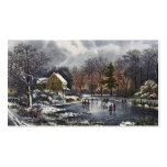 Vintage Christmas, Early Winter Skaters on Pond Double-Sided Standard Business Cards (Pack Of 100)