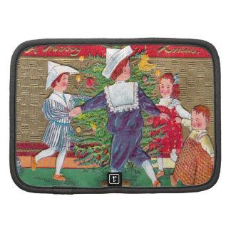 Vintage Christmas, Edwardian children dancing Organizers