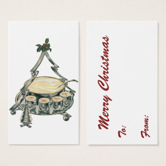 Vintage Christmas Eggnog Drinks with Nutmeg Spice Business Card