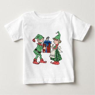 Vintage Christmas Elves Gift Giving Infant T-shirt