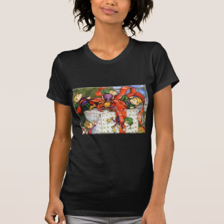 Vintage Christmas Elves Gift Wrapping T-Shirt