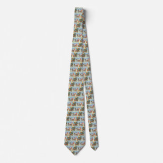 Vintage Christmas, Elves in the Snow Forest Winter Tie