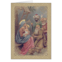 Vintage Christmas Epiphany Three Kings Card