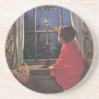 Vintage Christmas Eve by Jessie Willcox Smith Drink Coaster