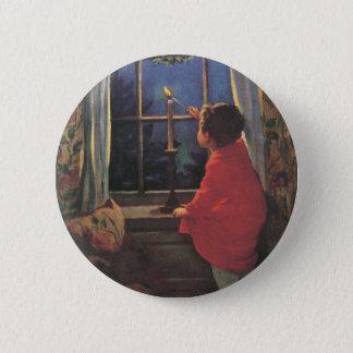 Vintage Christmas Eve by Jessie Willcox Smith Pinback Button