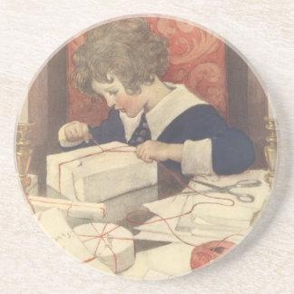 Vintage Christmas Eve Child, Jessie Willcox Smith Coaster