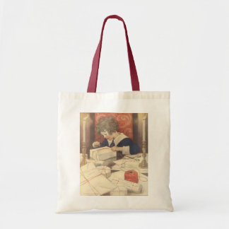 Vintage Christmas Eve Child, Jessie Willcox Smith Tote Bag