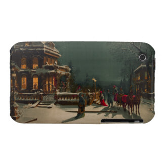 Vintage Christmas Eve Gathering iPhone 3 Case-Mate Cases