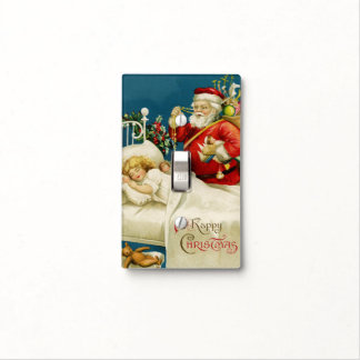 Vintage Christmas Eve Light Switch Cover