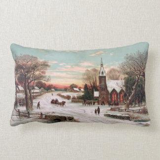 Vintage Christmas Eve Lumbar Pillow