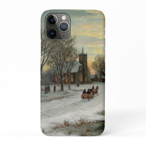 Vintage Christmas Eve Night iPhone 11 Pro Case