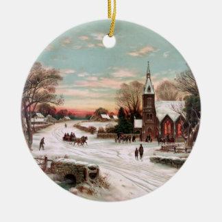 Vintage Christmas Eve Ornament