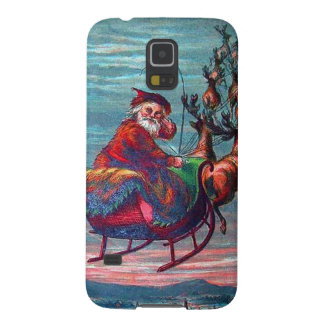 Vintage Christmas Eve Santa and Reindeer Cases For Galaxy S5