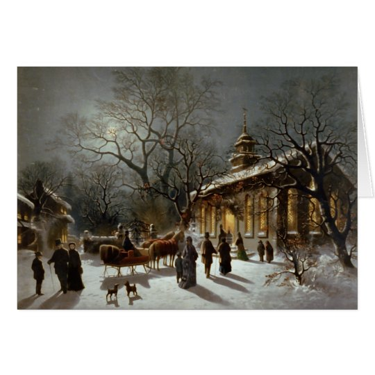 Vintage Christmas Eve scene Card